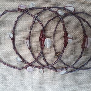 Set of 6 wonky bangles